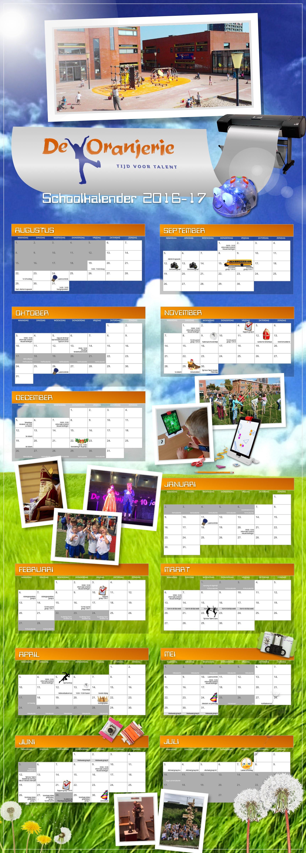 Oranjerie Schoolkalender