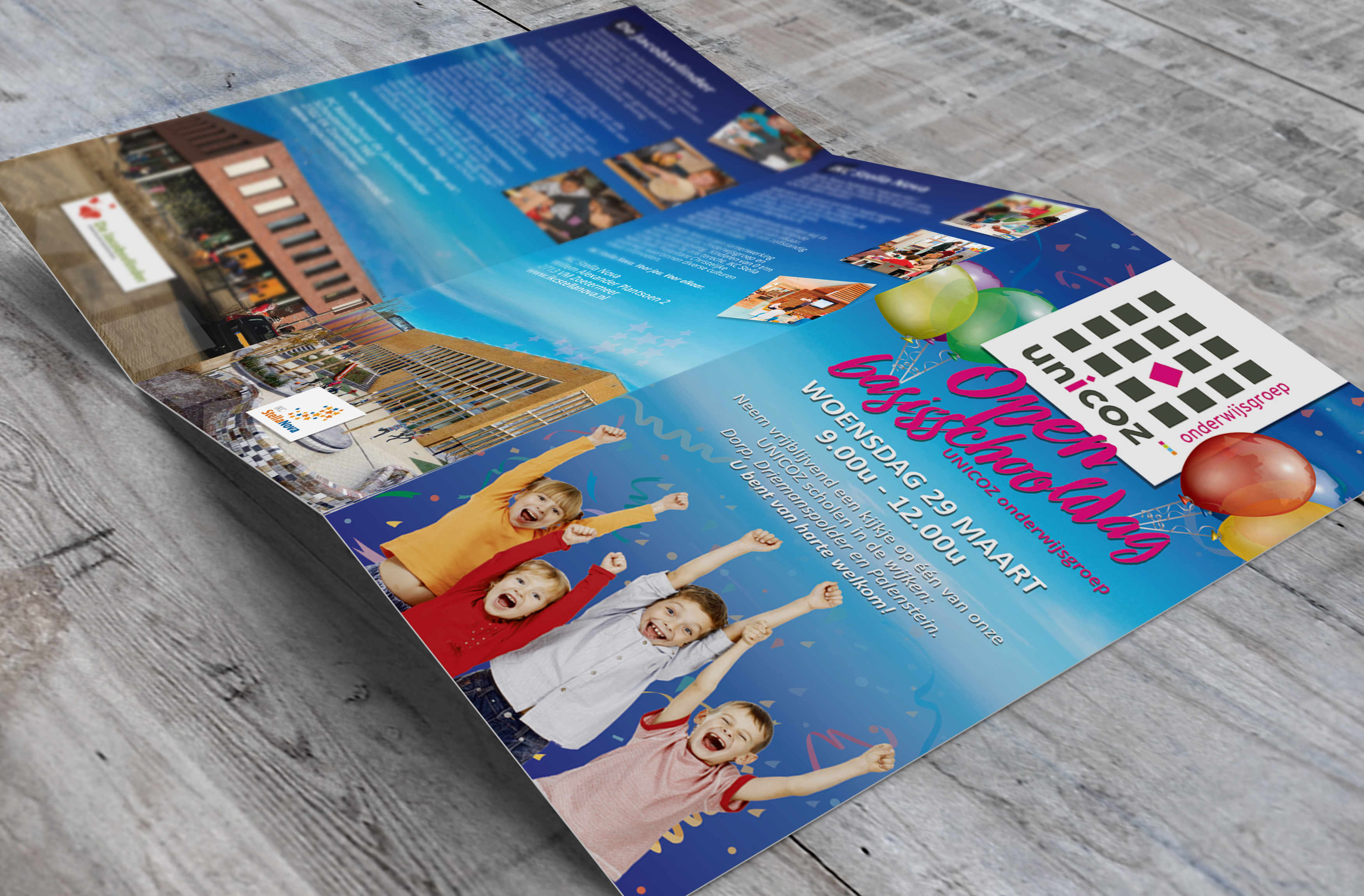 Flyer or Poster Mockups UNICOZ wijkfolder 2