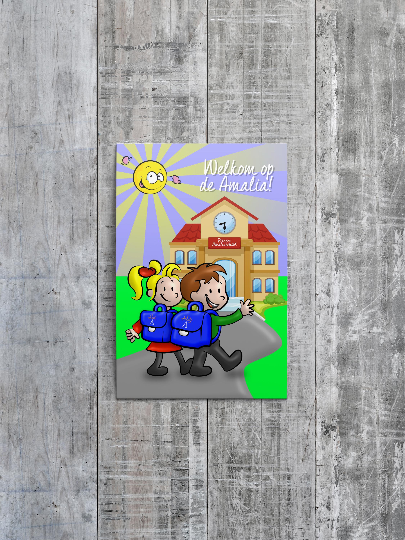 PSD 001 amalia ansichtkaart