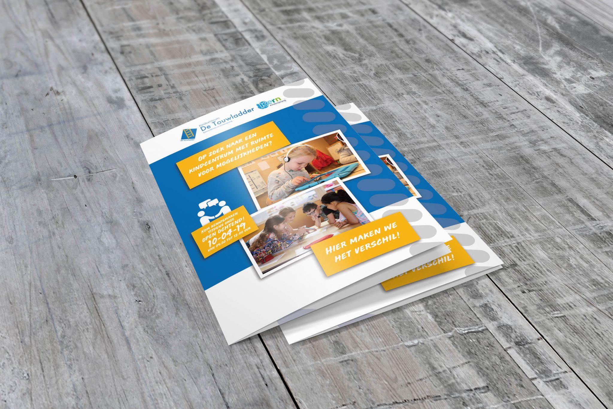 Folder touwladder voorkant melange design